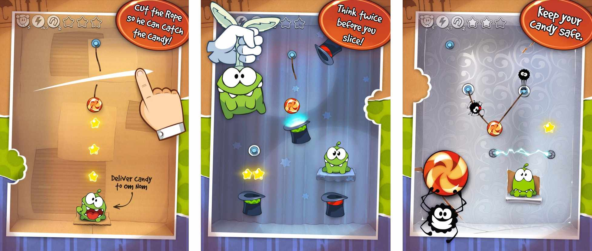 Levels in Cut the Rope GOLD
