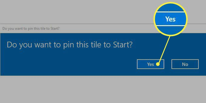 The pop up windows asking for confirmation before pinning the keyboard to Start.