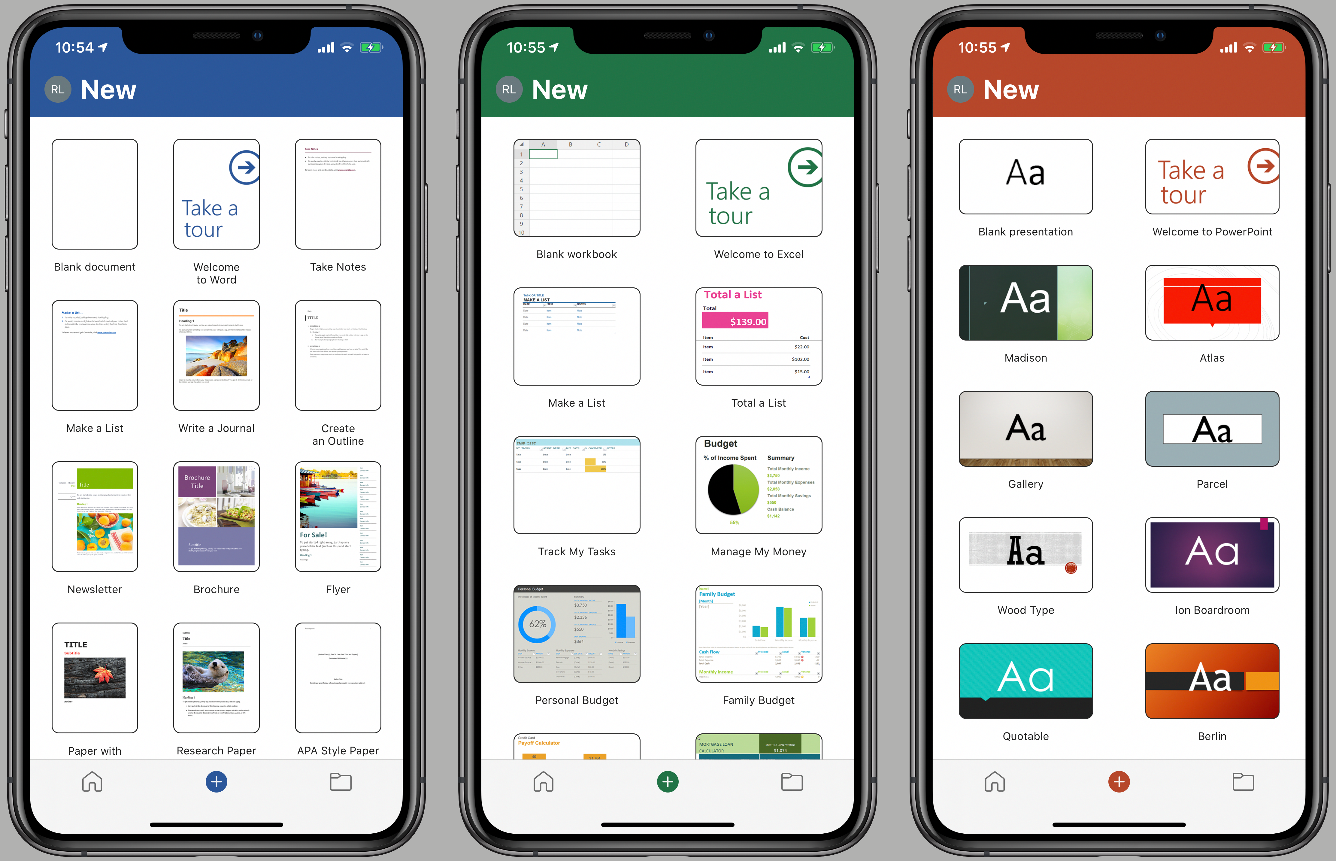 Word, Excel, PowerPoint Mobile Apps Get A Streamlined Interface