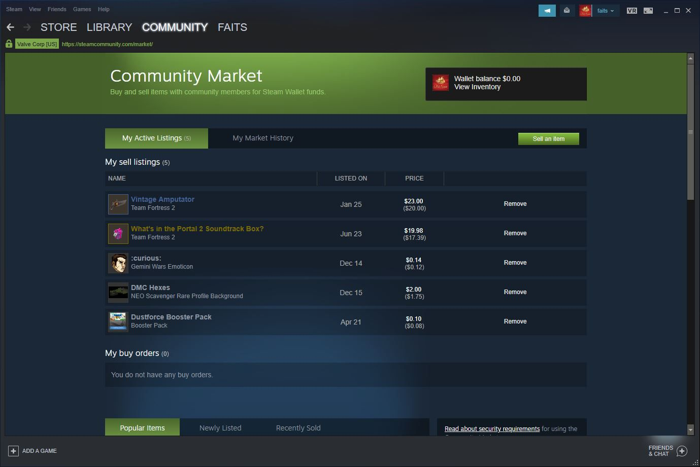 Steam Community market.