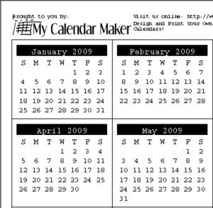 basic calendars and calendar creation tools