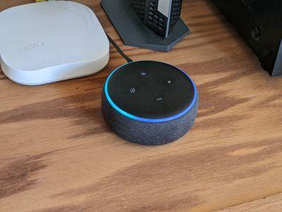 Connecting an Echo Dot to Wi-Fi.