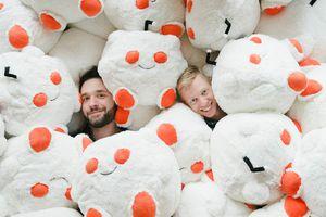 Reddit's founders in snoos