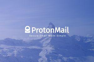 ProtonMail logo and splashscreen