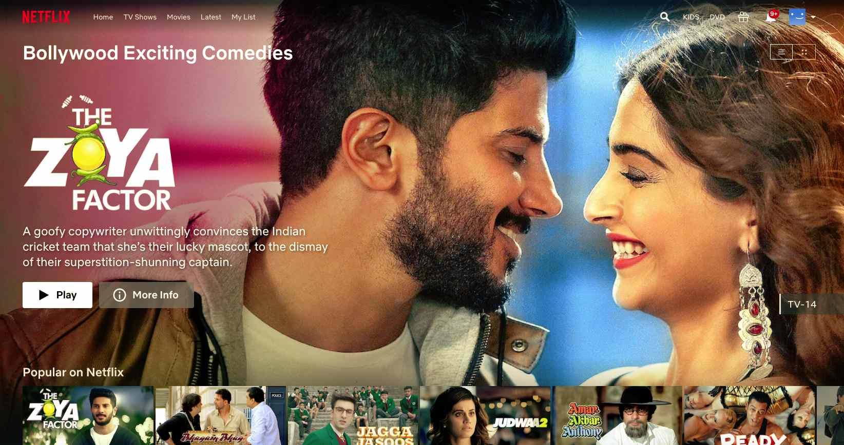 Bollywood movies opened up with Netflix secret codes