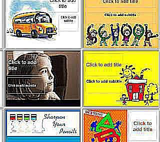 Microsoft powerpoint templates for school k 12 powerpoint templates from brainy betty toneelgroepblik Choice Image