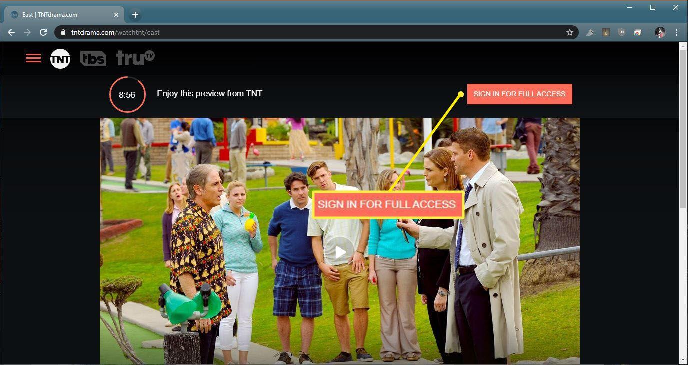 A screenshot of a TNT preview.