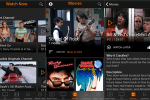 Crackle free movie app on iPhone