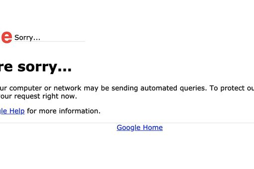 Google search error for automated queries
