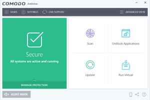 Comodo Antivirus free start screen