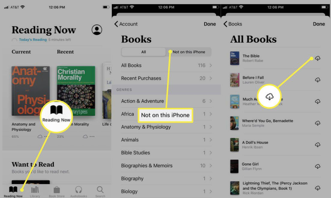 downloading books from an iOS device