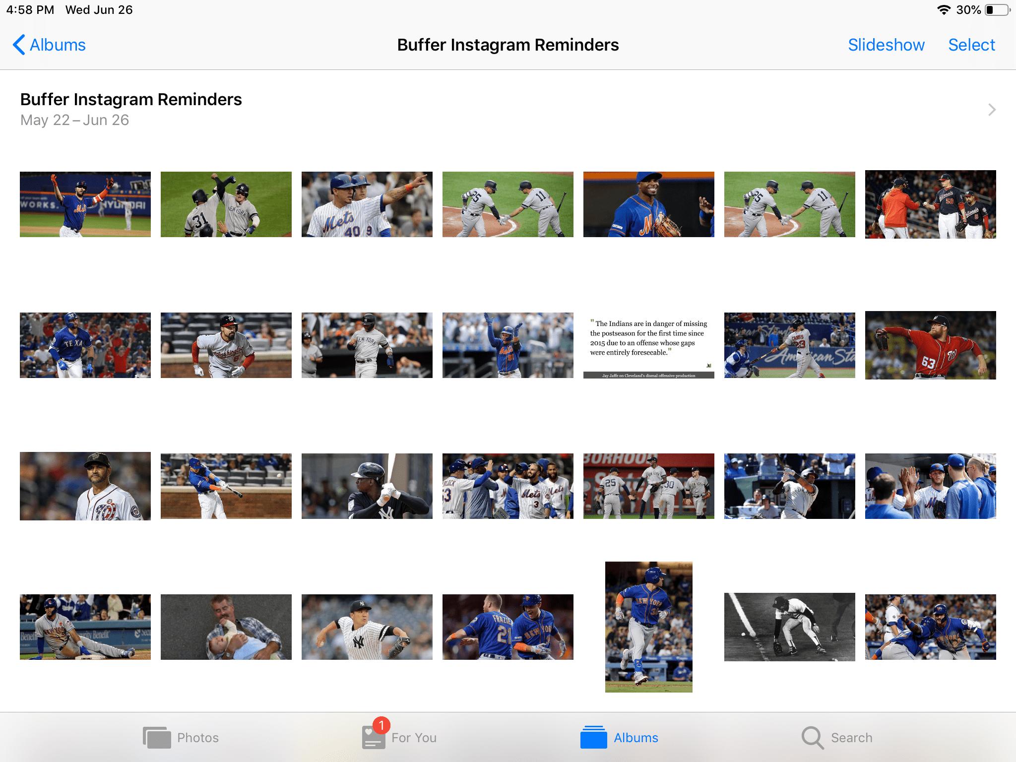 The iPad Photos app