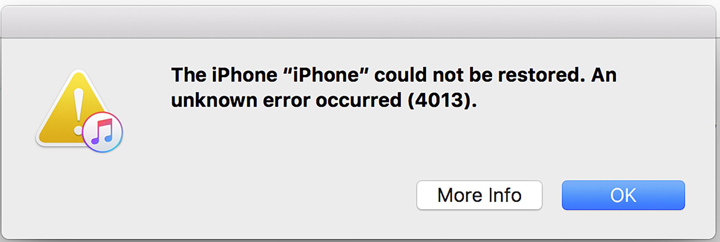 7 Ways To Fix IPhone Error 4013