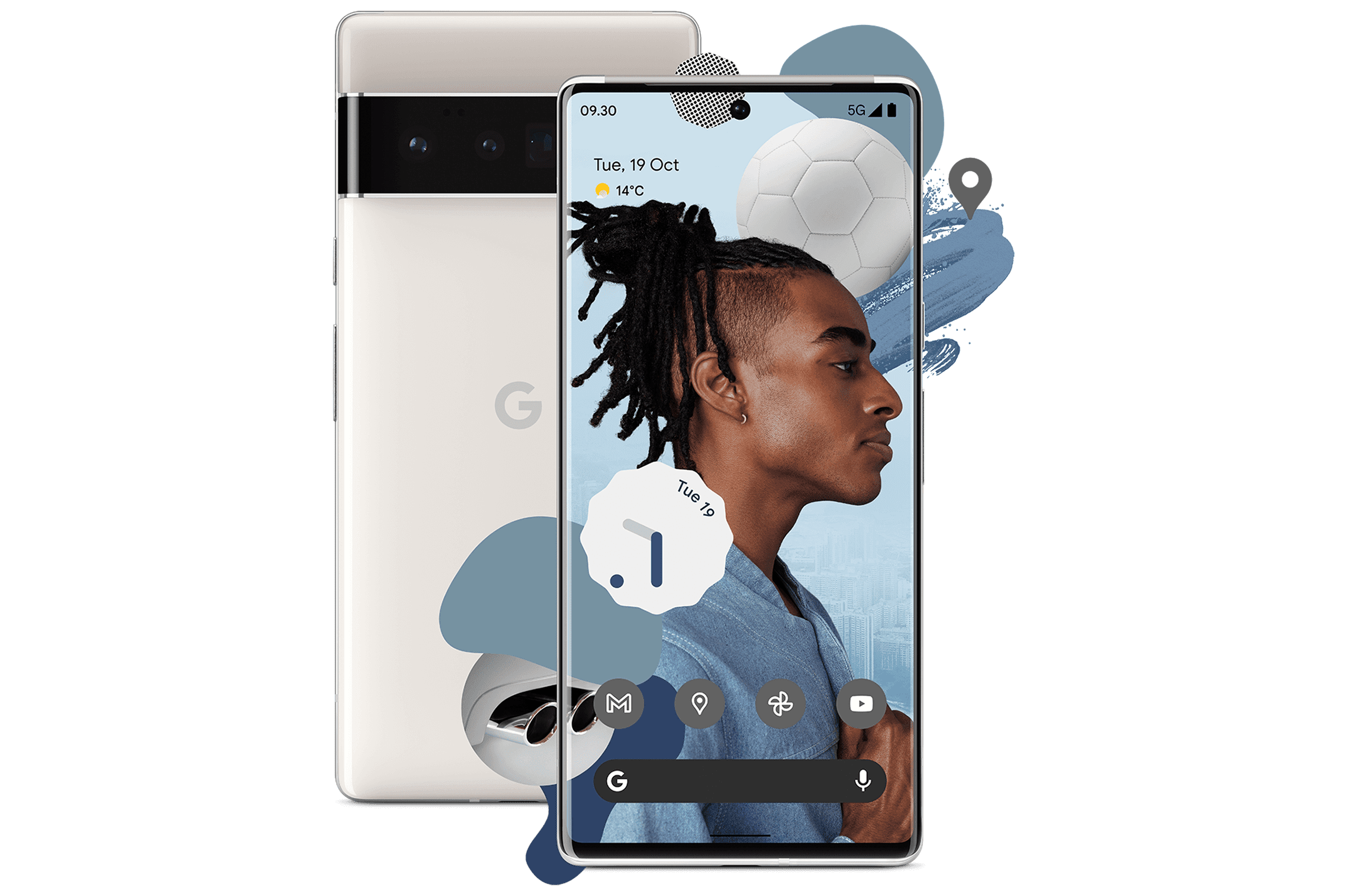 Pixel 6 Pro front and back