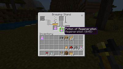 Potion of Regeneration in Minecraft