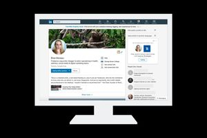 An image of a LinkedIn profile on a computer screen