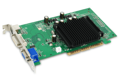 Photo of an EVGA GeForce 6200 AGP 8X Graphics Card