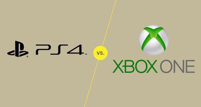 PS4 Vs. Xbox One graphic