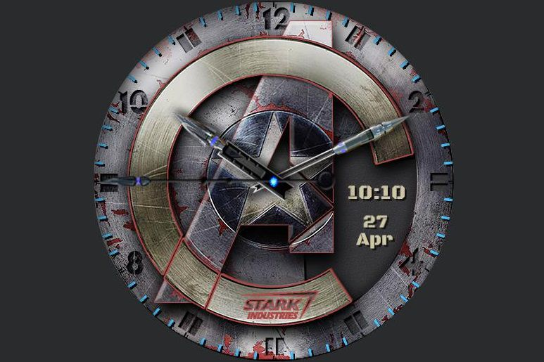Marvel Avengers Model 2 watch face for Samsung Galaxy watches