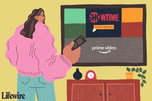 Person adding Showtime to Amazon Prime