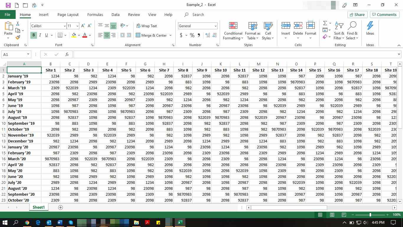 MS Excel with file open