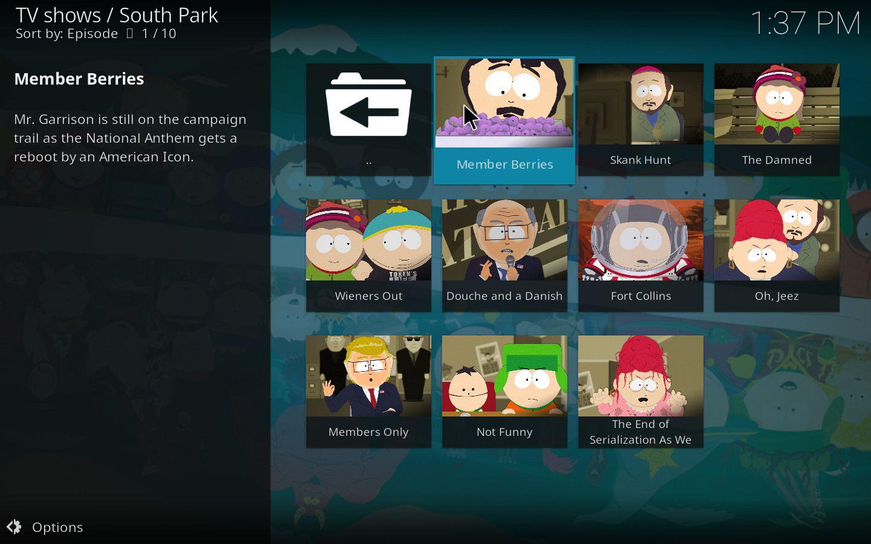 South Park Kodi Add-on