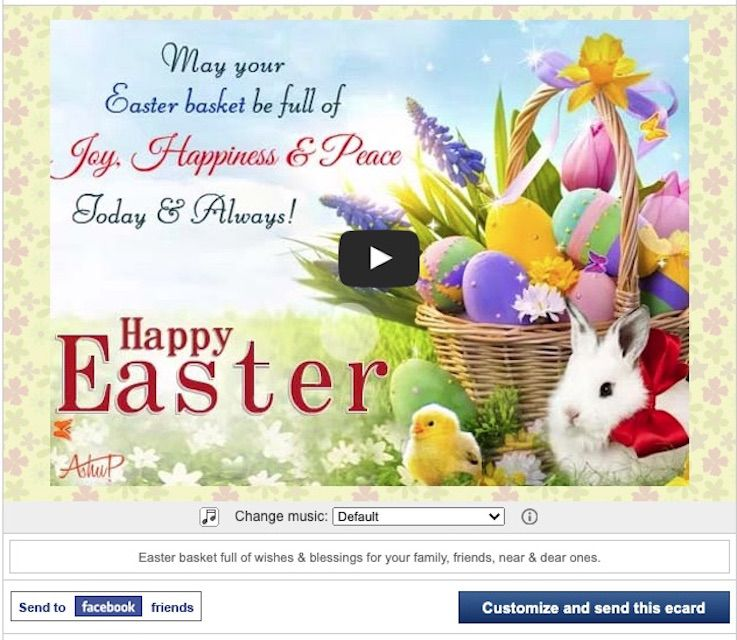 123 Greetings Free E-Card for Easter