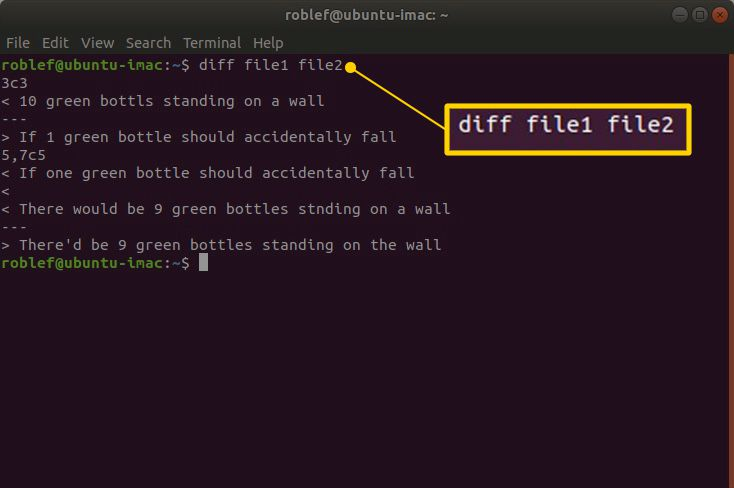 How To Compare Two Text Files Using Linux