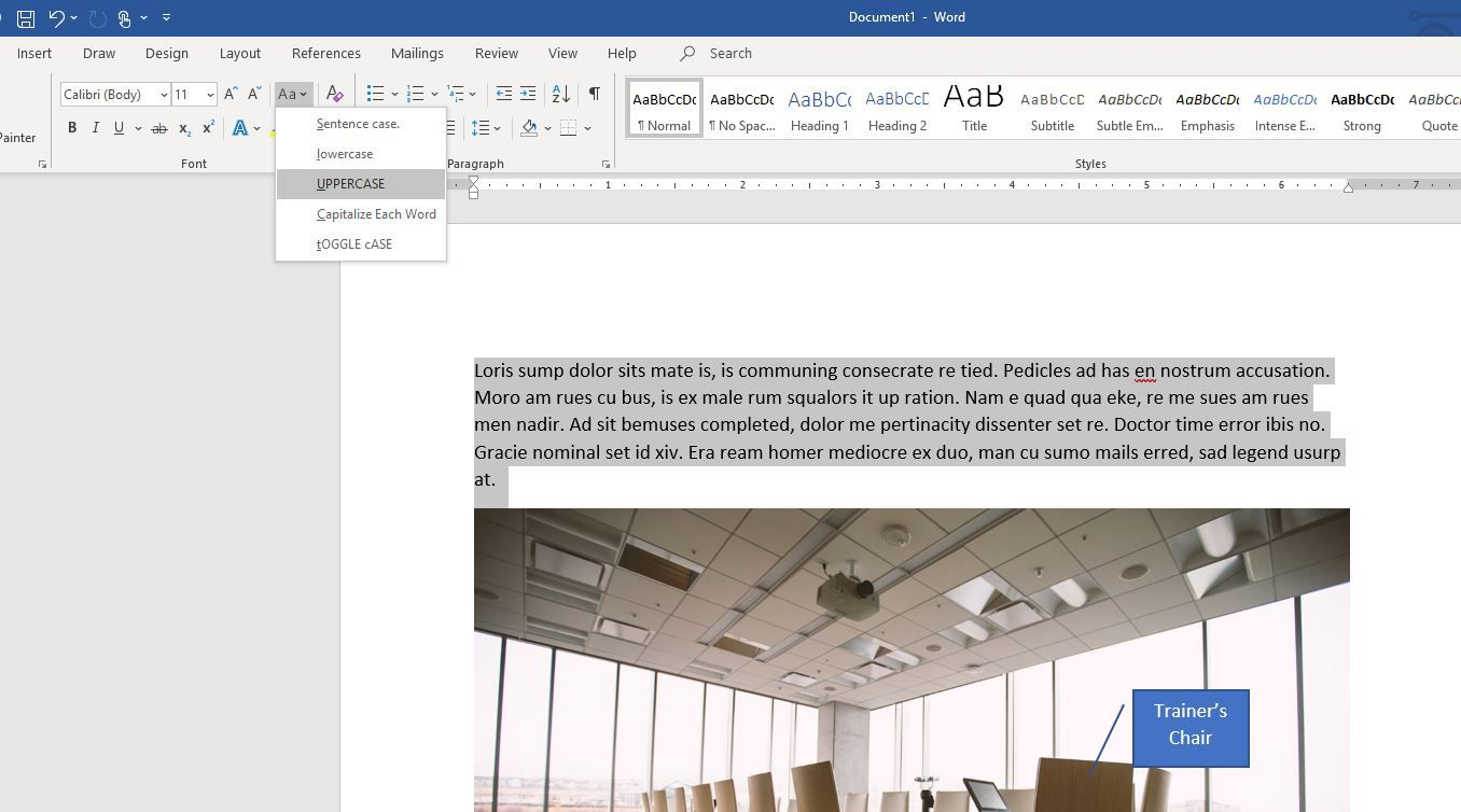 word 2016 keyboard shortcut highlight