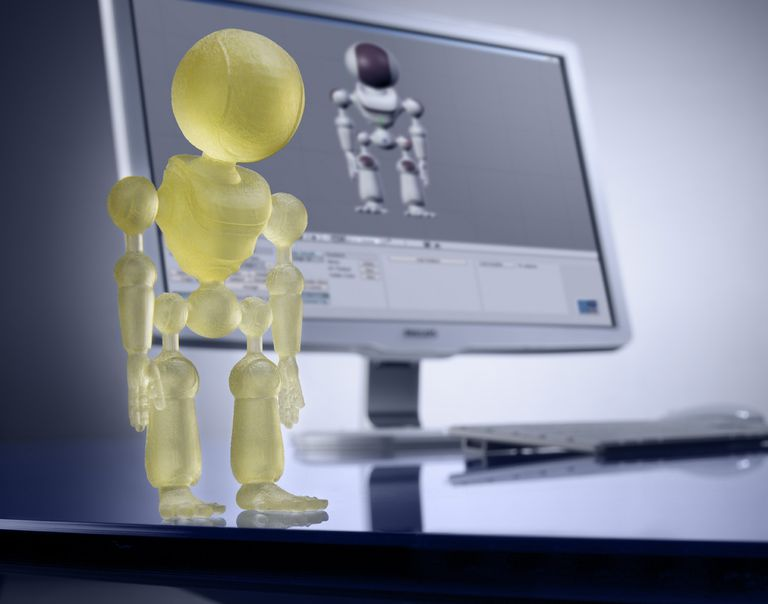 Photo of a 3D resin print from Shapeways.