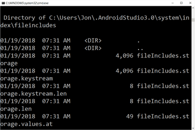 Command Prompt results in Windows 10