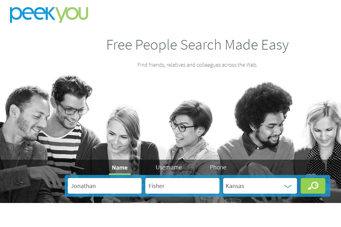 PeakYou home page search