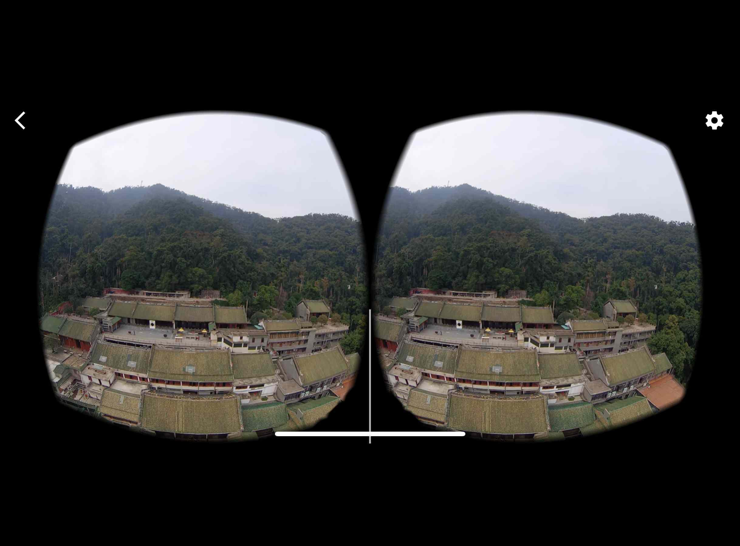 360 VR video in Google Cardboard mode in the iPhone YouTube app