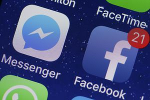 Messenger And Facebook apps on phone screen
