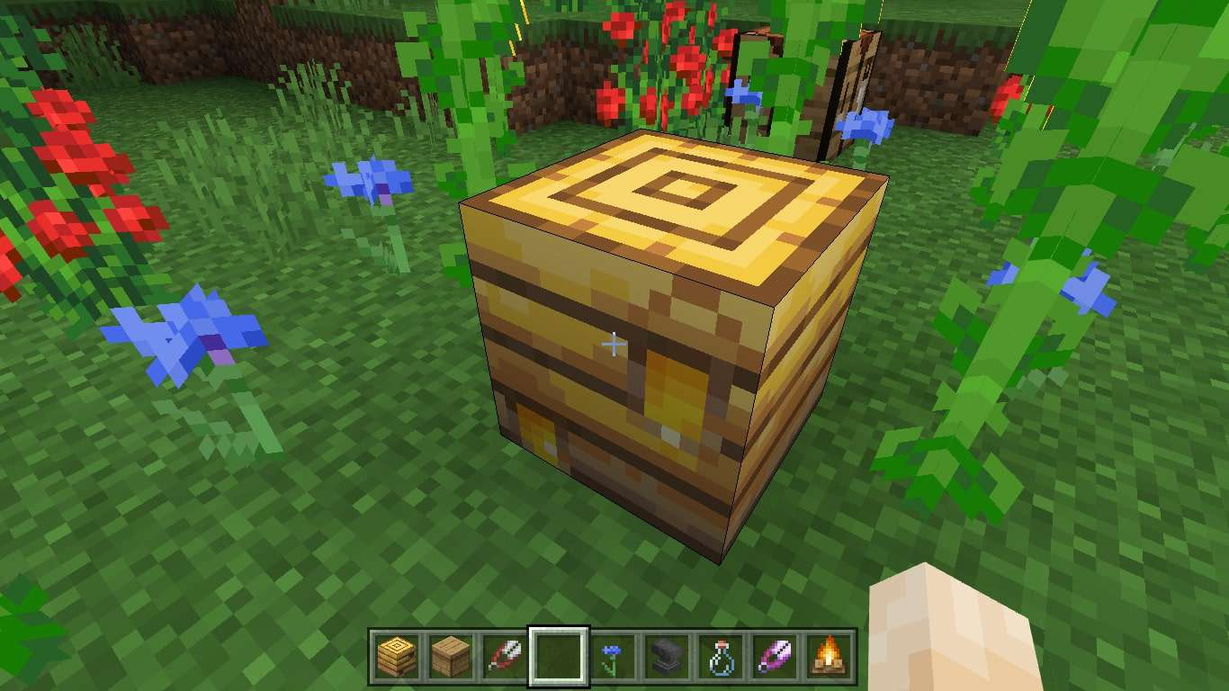 How To Get Honey From A Beehive In Minecraft