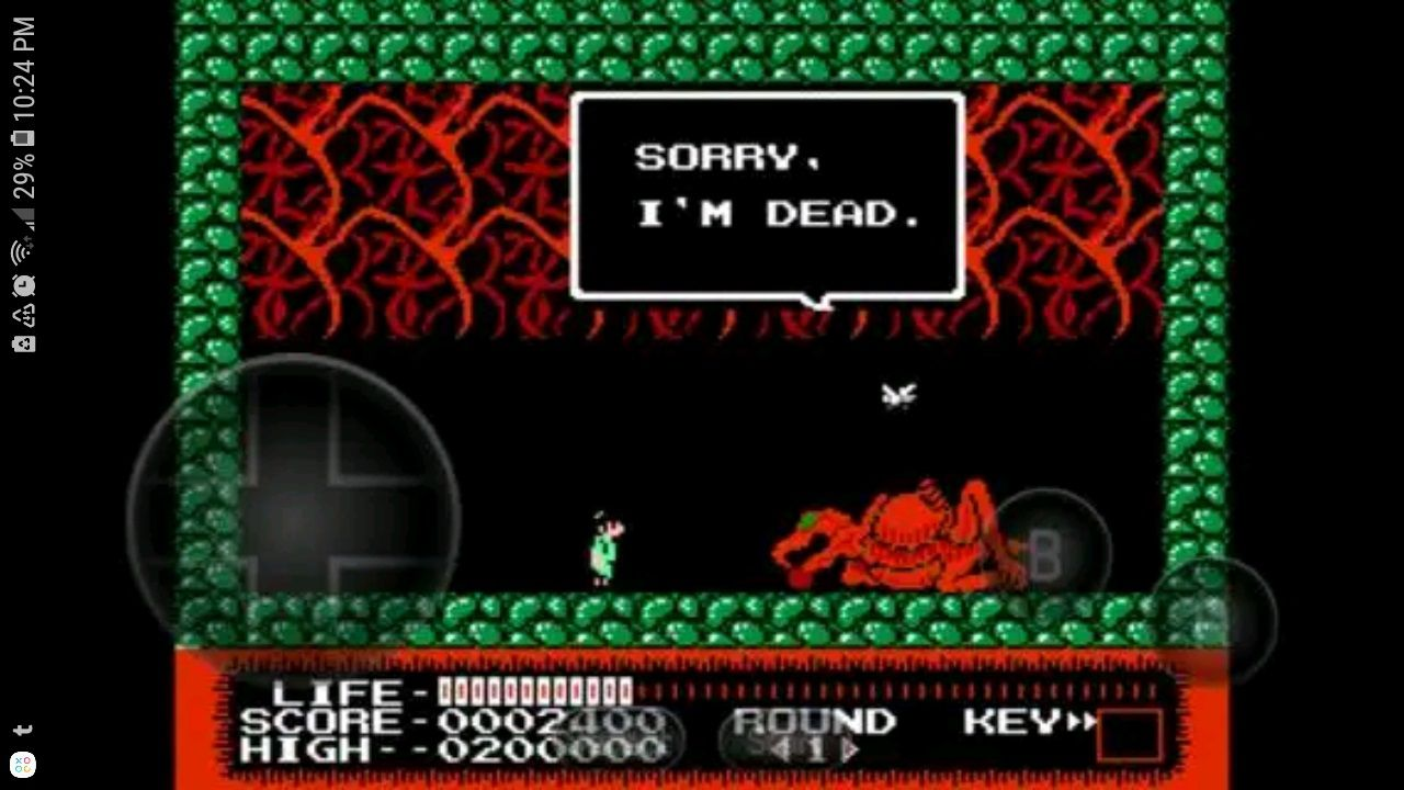 Monster Party running in NES.emu for Android