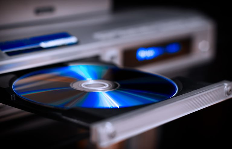 Dvd of blu-ray disk in player