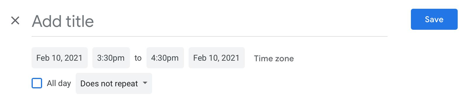 Add your meeting details in Google Calendar