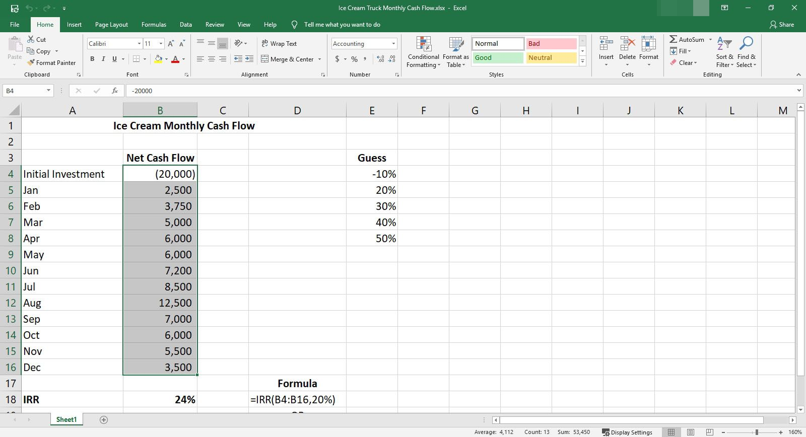 How to Calculate IRR in Excel
