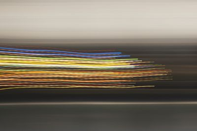 Multicolor flowing lines