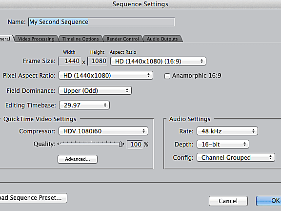 Fcp 7 Tutorial Sequence Settings Part 1