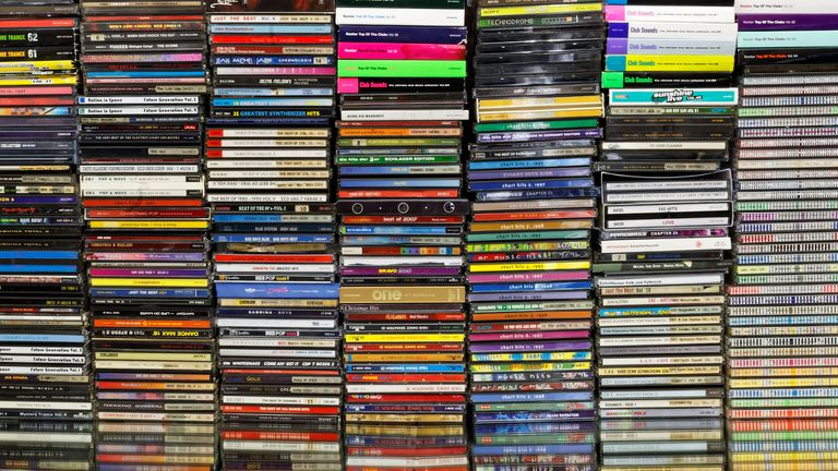 A large collection of CDs
