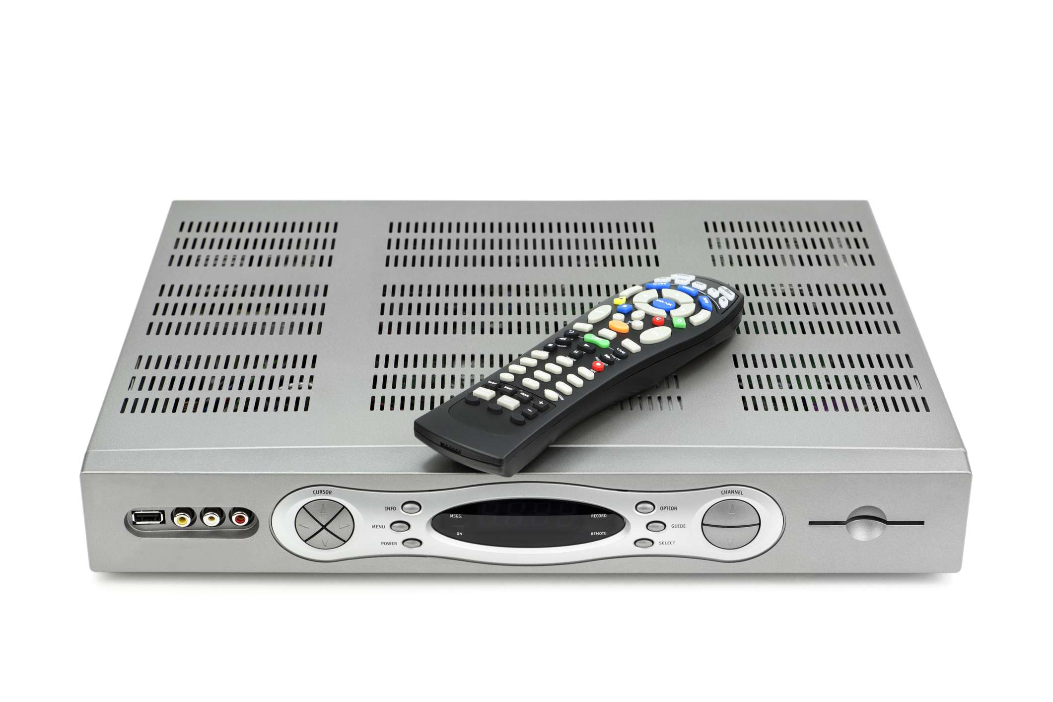 A cable box with a built-in DVR function.