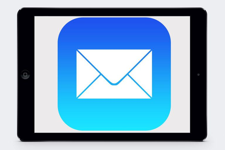 The iOS Mail logo on an iPad