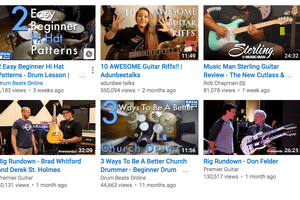 screenshot of curated youtube videos