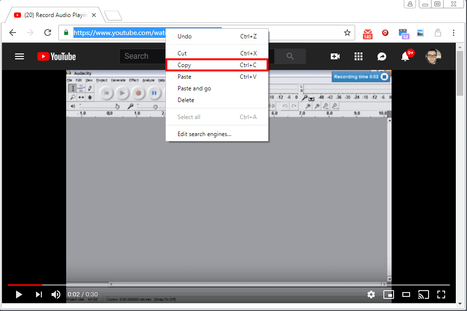 copy youtube video to mp4