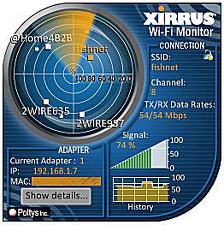 WIFI TÉLÉCHARGER MONITOR XIRRUS