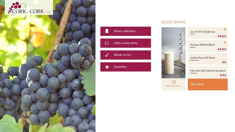 Cork to Cork Wine Journal Windows 10 app