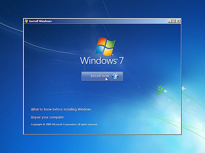 reinstall windows 7 with existing product key