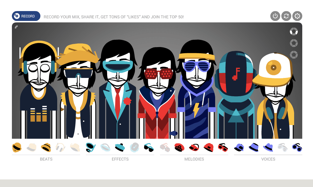 Craft your own tunes in Incredibox